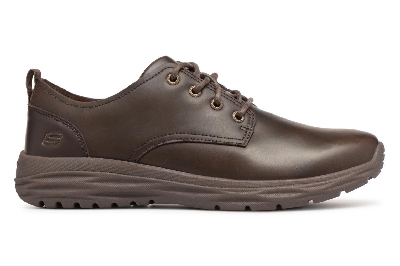 Zapatos con cordones Skechers Harsen Artson Marrón vistra trasera