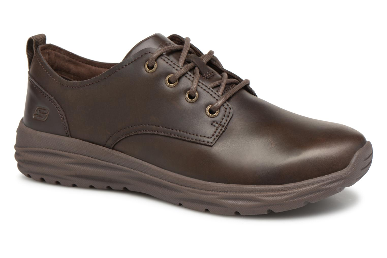 Zapatos con cordones Skechers Harsen Artson Marrón vista de detalle / par