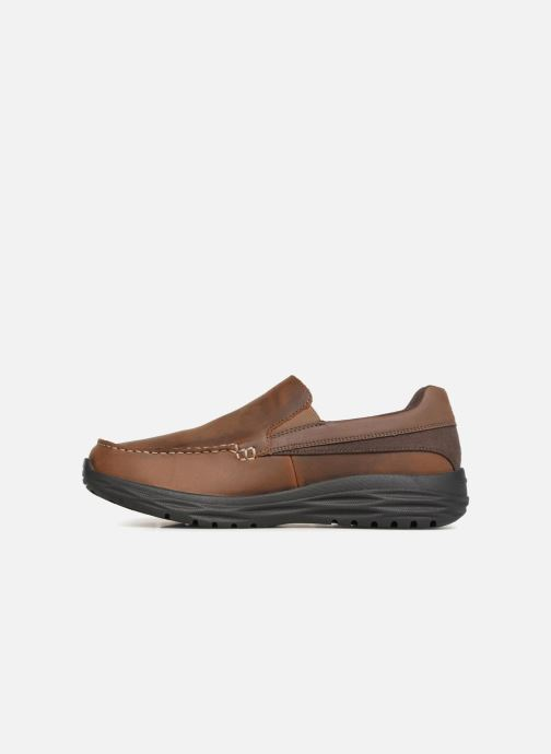 Loafers Skechers Harsen Ortego Brown front view