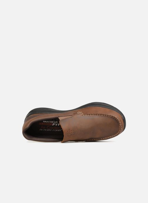 Loafers Skechers Harsen Ortego Brown view from the left