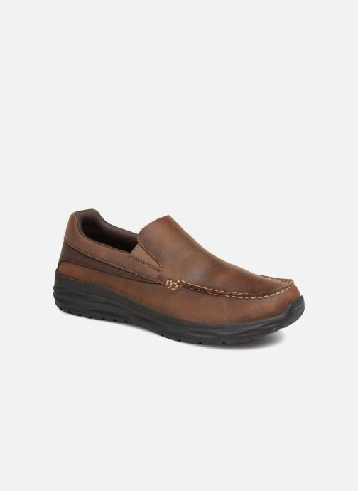 Loafers Skechers Harsen Ortego Brown detailed view/ Pair view