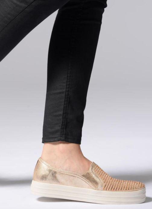 Sneaker Skechers Double Up Shiny Dancer W gold/bronze ansicht von unten / tasche getragen