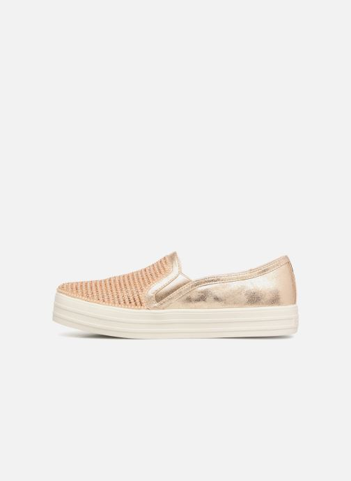 Sneakers Skechers Double Up Shiny Dancer W Bronze och Guld bild från framsidan