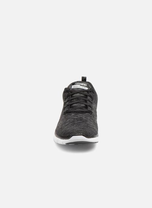 Sportschuhe Skechers Flex Appeal 3.0 schwarz schuhe getragen