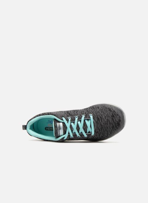 Sportschuhe Skechers Flex Appeal 3.0 grau ansicht von links