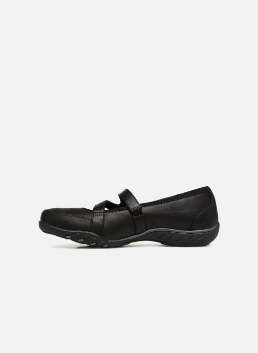 Bailarinas Skechers Breathe-Easy Calmly Negro vista de frente