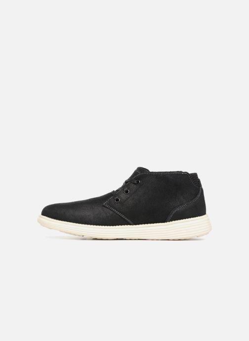 Boots en enkellaarsjes Skechers Status Rolano Zwart voorkant