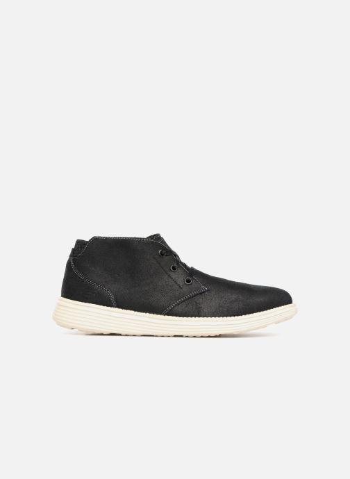 Boots en enkellaarsjes Skechers Status Rolano Zwart achterkant