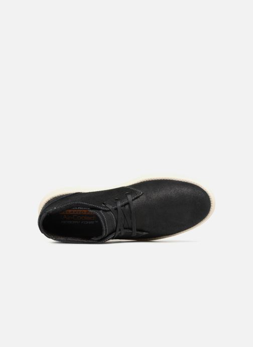 Botines  Skechers Status Rolano Negro vista lateral izquierda