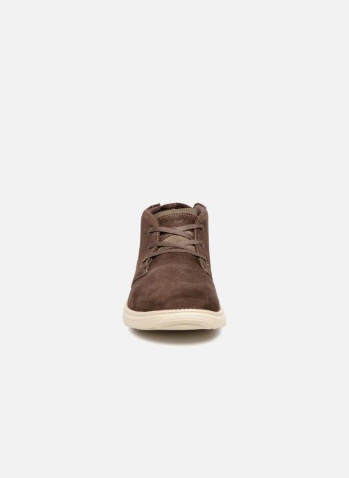 Stiefeletten & Boots Skechers Status Rolano braun schuhe getragen