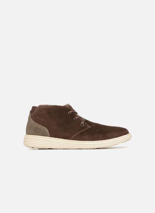 Stiefeletten & Boots Skechers Status Rolano braun ansicht von hinten