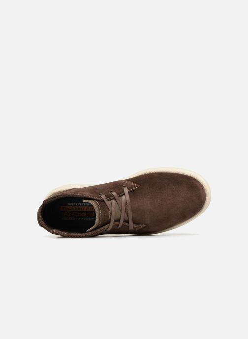 Stiefeletten & Boots Skechers Status Rolano braun ansicht von links