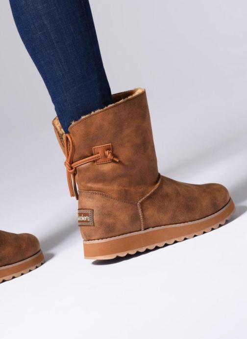 Boots en enkellaarsjes Skechers Keepsakes 2.0 Hearth Bruin onder