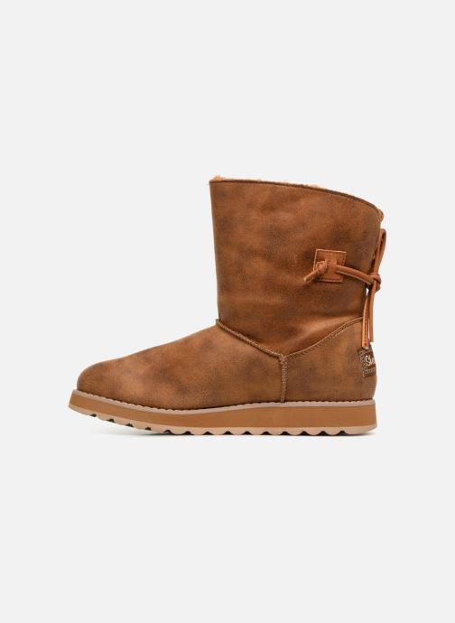 Boots en enkellaarsjes Skechers Keepsakes 2.0 Hearth Bruin voorkant