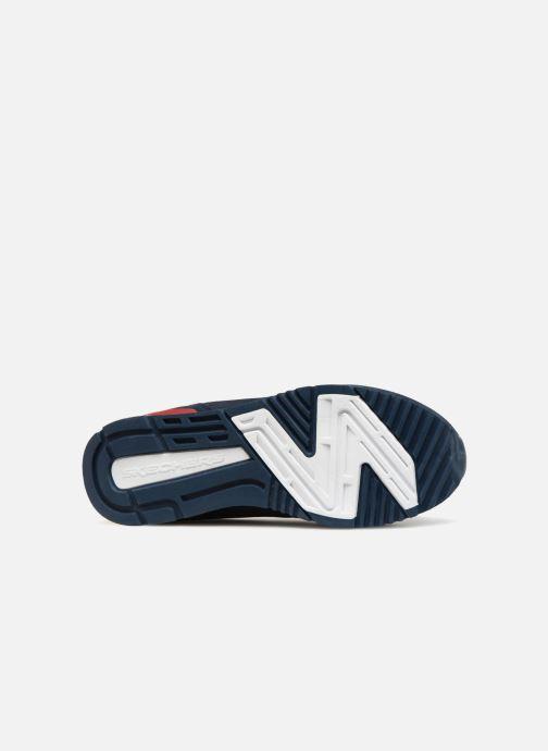 Baskets Skechers Sunlite Waltan Bleu vue haut