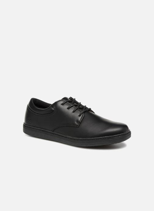Snøresko Skechers Lanson Escape Sort detaljeret billede af skoene