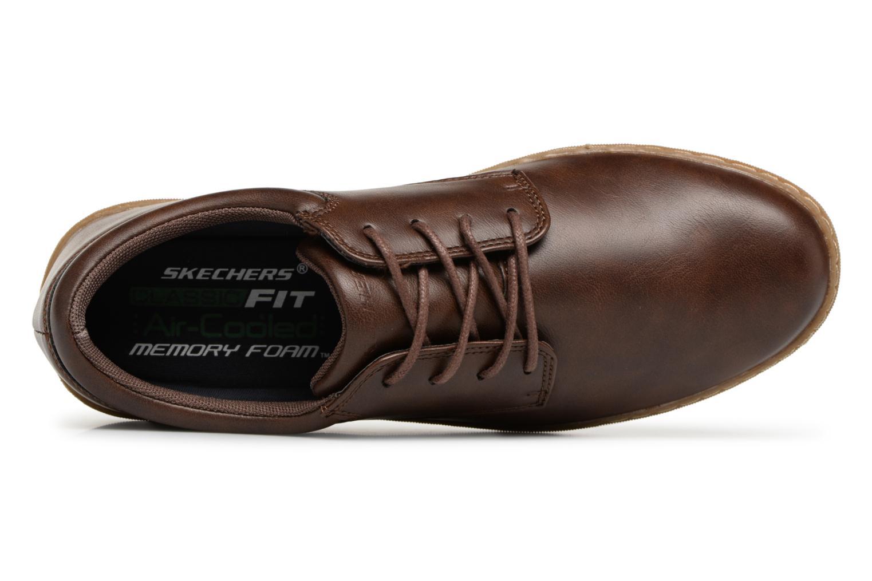 Chaussures à lacets Skechers Lanson Escape Marron vue gauche