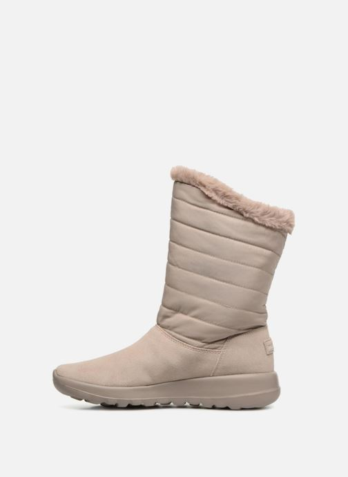 Stiefel Skechers On-The-Go Joy Blizz beige ansicht von vorne
