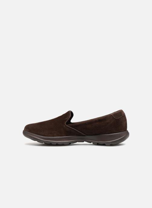 Loafers Skechers Go Walk Lite Glam Brun se forfra