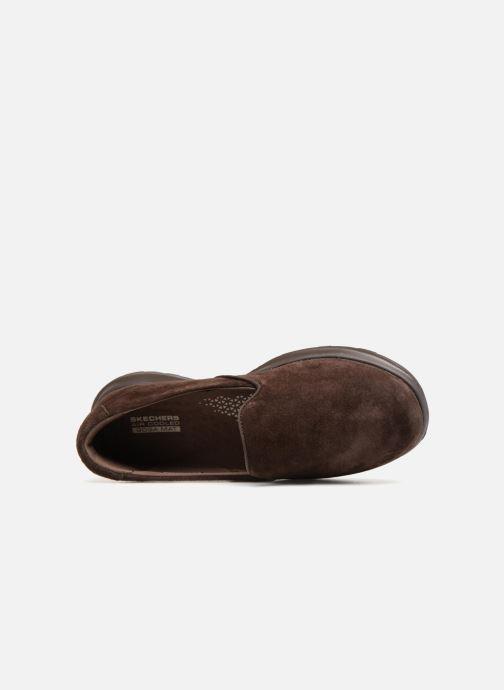 Loafers Skechers Go Walk Lite Glam Brun se fra venstre