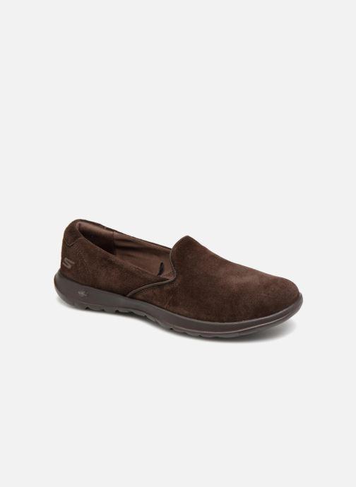 Loafers Skechers Go Walk Lite Glam Brun detaljeret billede af skoene