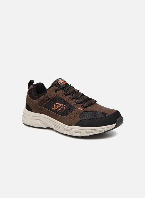 Sportssko Skechers Oak Canyon Brun detaljeret billede af skoene