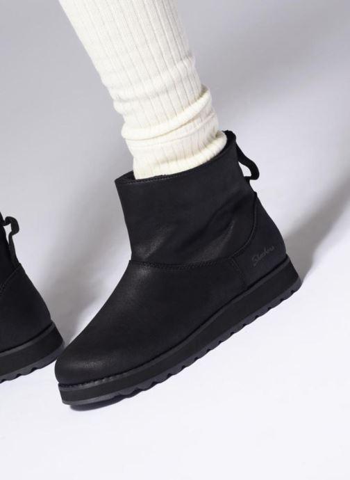 Stiefeletten & Boots Skechers Keepsakes 2.0 Cloud Peak schwarz ansicht von unten / tasche getragen