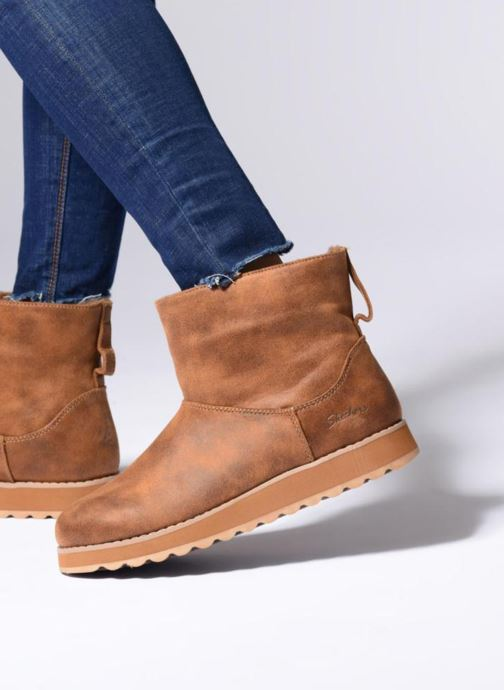 0ed0e45258b5 Ankle boots Skechers Keepsakes 2.0 Cloud Peak Brown view from underneath    model view
