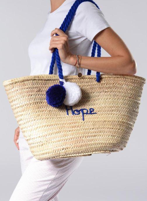 Handtaschen Original Marrakech PANIER ORIGINAL HOPE weiß ansicht von unten / tasche getragen