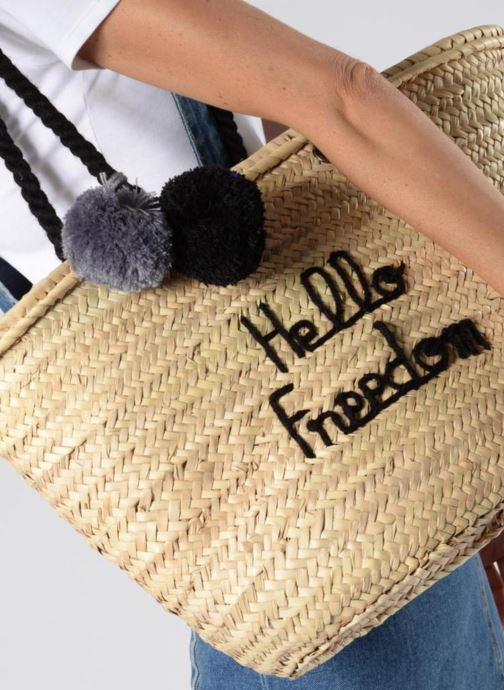 Handtassen Original Marrakech PANIER ORIGINAL HELLO FREEDOM Zwart boven
