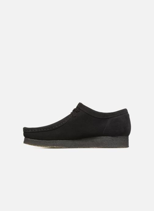Chaussures à lacets Clarks Originals Wallabee Noir vue face