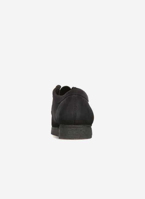 Zapatos con cordones Clarks Originals Wallabee Negro vista lateral derecha
