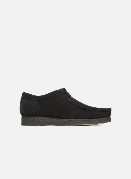 Zapatos con cordones Clarks Originals Wallabee Negro vistra trasera