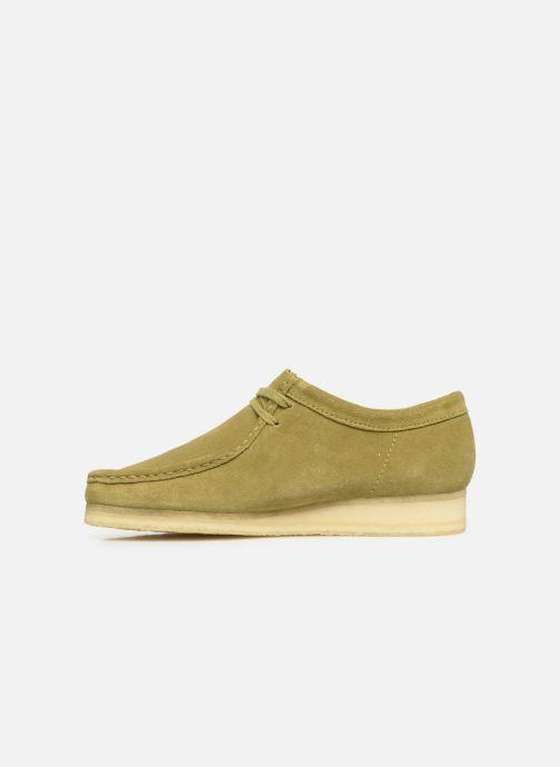 Chaussures à lacets Clarks Originals Wallabee Vert vue face