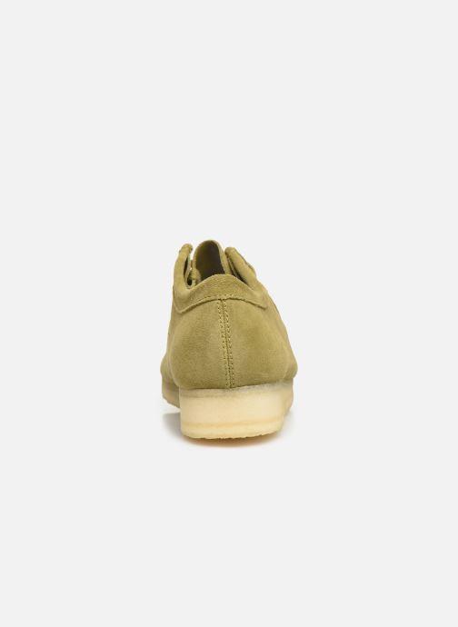 Chaussures à lacets Clarks Originals Wallabee Vert vue droite