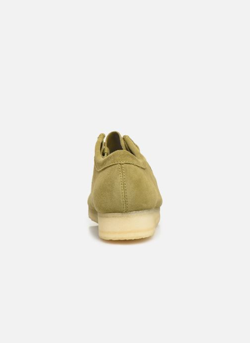 Zapatos con cordones Clarks Originals Wallabee Verde vista lateral derecha