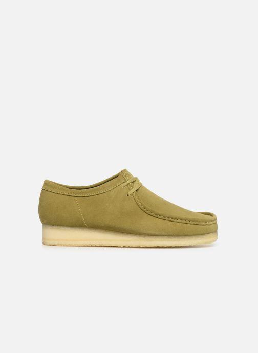 Chaussures à lacets Clarks Originals Wallabee Vert vue derrière