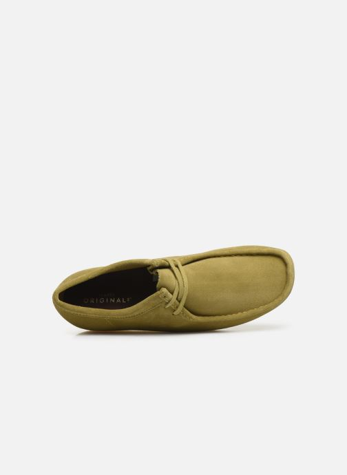 Zapatos con cordones Clarks Originals Wallabee Verde vista lateral izquierda