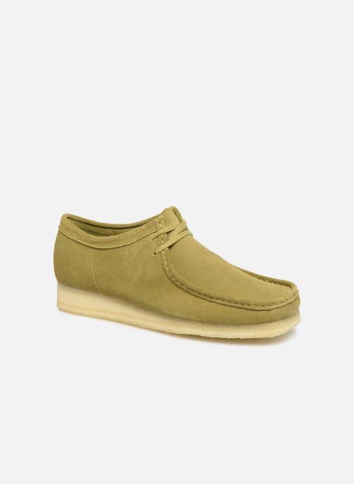 Chaussures à lacets Clarks Originals Wallabee Vert vue détail/paire