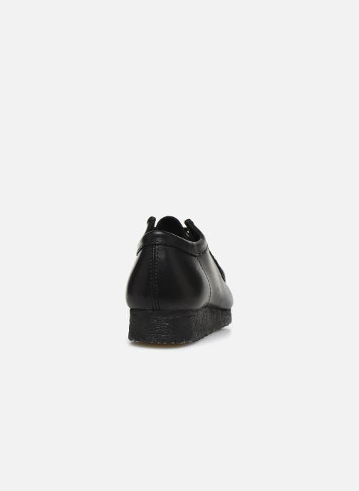 Chaussures à lacets Clarks Originals Wallabee Noir vue droite