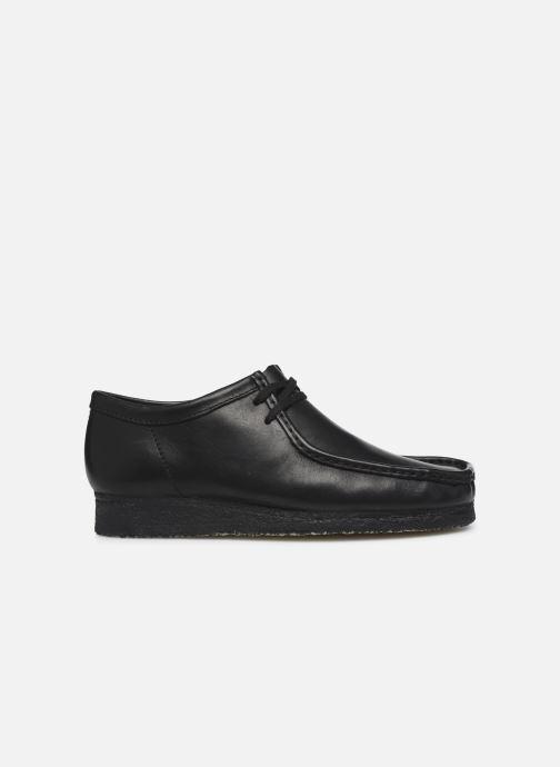 Chaussures à lacets Clarks Originals Wallabee Noir vue derrière