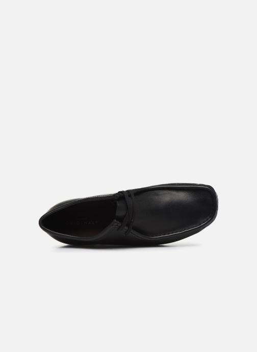 Zapatos con cordones Clarks Originals Wallabee Negro vista lateral izquierda