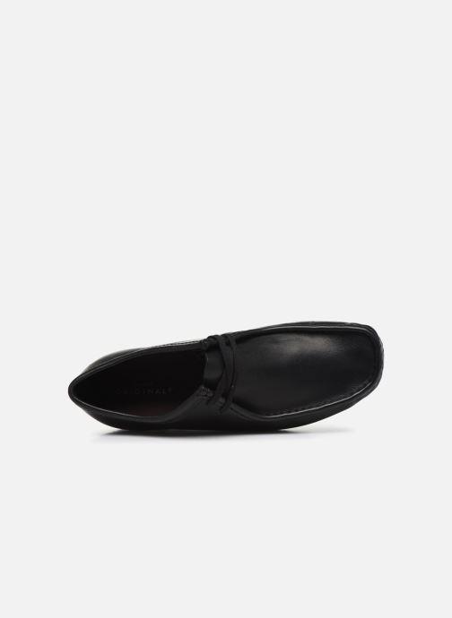 Chaussures à lacets Clarks Originals Wallabee Noir vue gauche