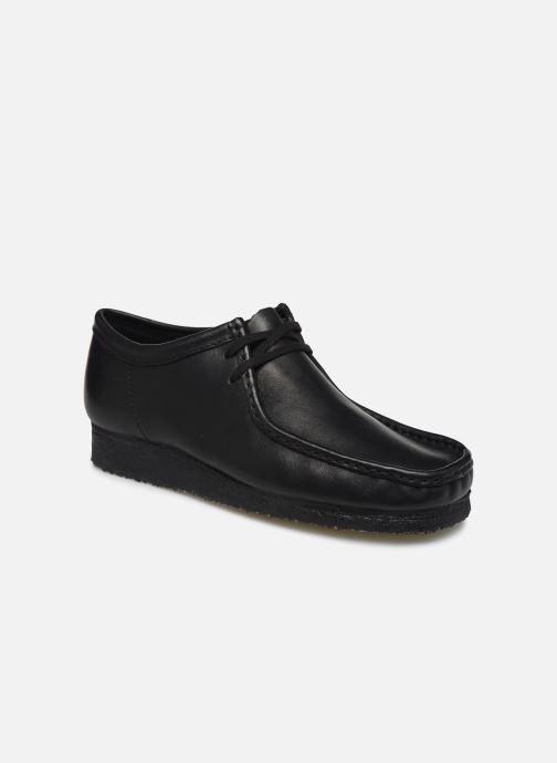 Schnürschuhe Clarks Originals Wallabee schwarz detaillierte ansicht/modell
