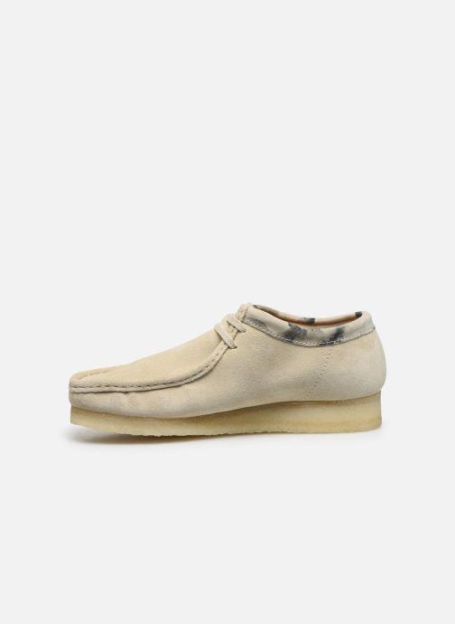 Zapatos con cordones Clarks Originals Wallabee Blanco vista de frente