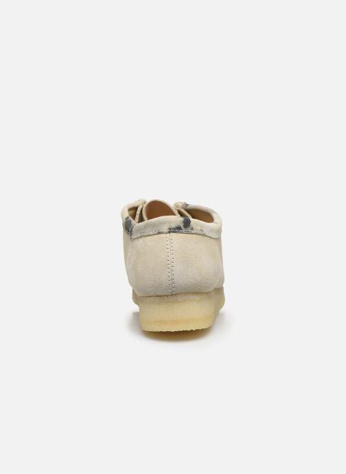 Zapatos con cordones Clarks Originals Wallabee Blanco vista lateral derecha