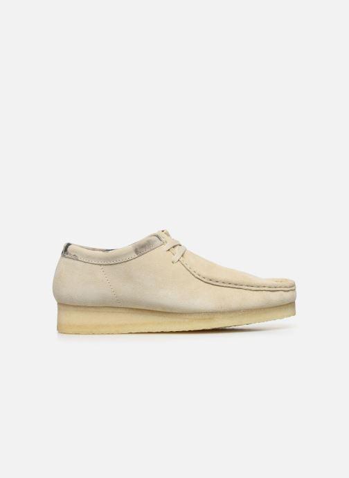 Zapatos con cordones Clarks Originals Wallabee Blanco vistra trasera
