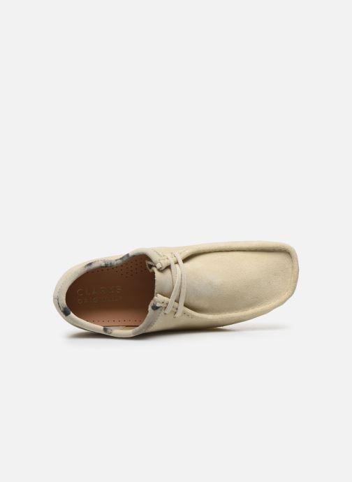 Zapatos con cordones Clarks Originals Wallabee Blanco vista lateral izquierda