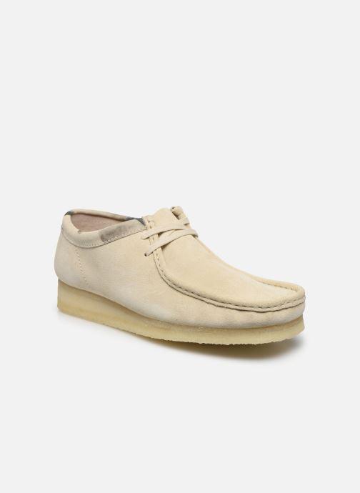 Zapatos con cordones Clarks Originals Wallabee Blanco vista de detalle / par
