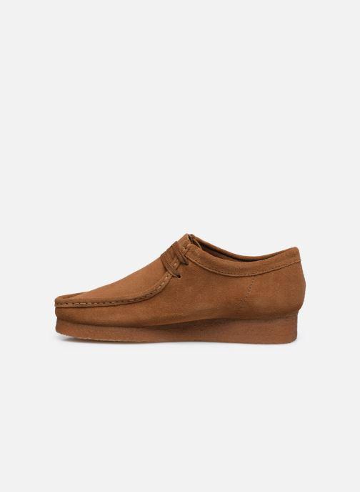 Chaussures à lacets Clarks Originals Wallabee Marron vue face